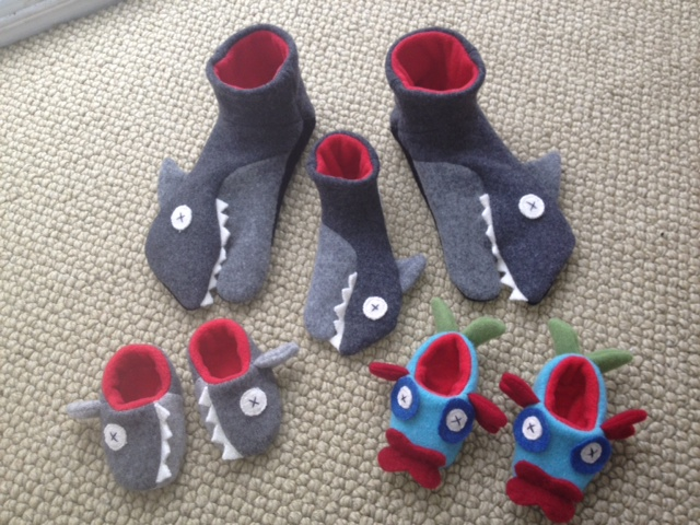 Shark Slippers from Cate & Levi