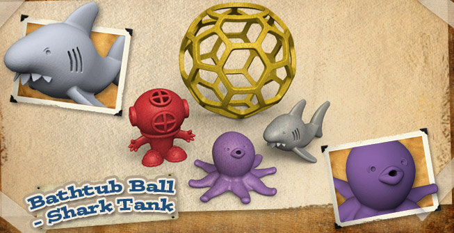 Shark Tank Bathtub Toys from BeginAgain