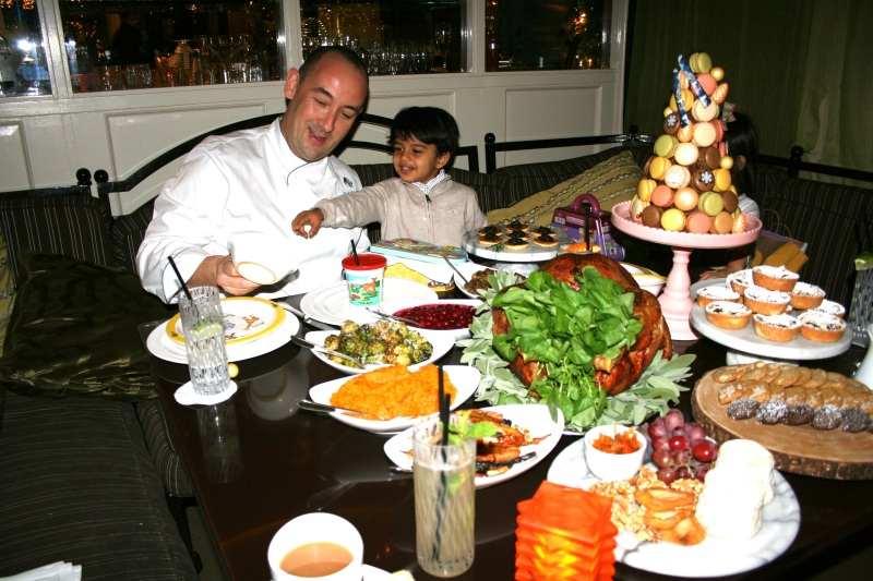 Dining out for the Holidays - Our Family Celebration at Four Seasons Los Angeles