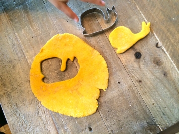 Cocoa and Turmeric Salt Dough Shapes