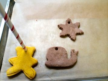 Cocoa and Turmeric Salt Dough Shapes