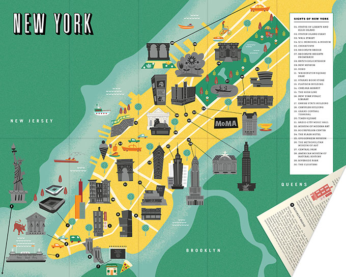 Go on a Sightseeing Scavenger Hunt with City ScratchOff Maps – New York City Map With Tourist Attractions